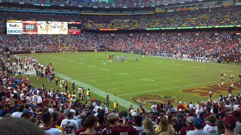 Seating view for FedEx Field Section 136 Row 27 Seat 1