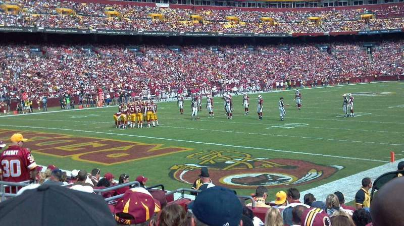 Seating view for FedEx Field Section 106 Row 10 Seat 12