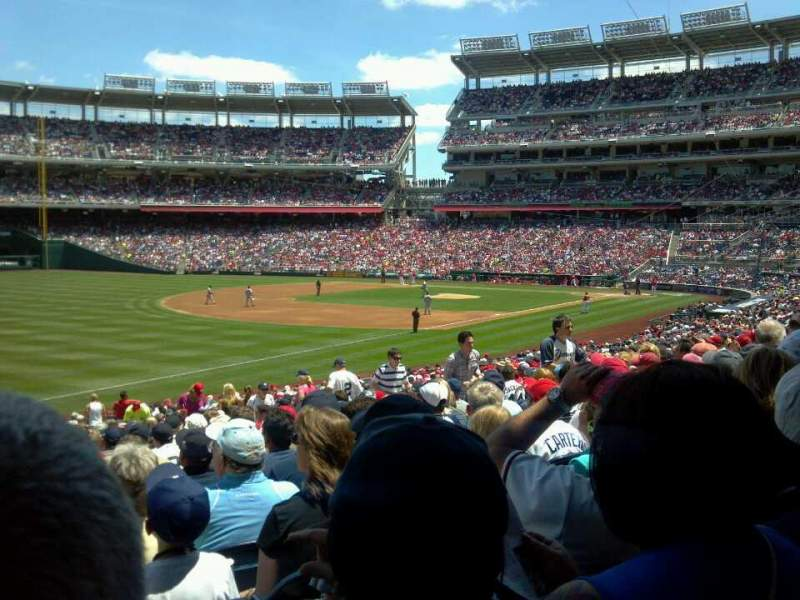 Seating view for Nationals Park Section 110 Row LL Seat 15