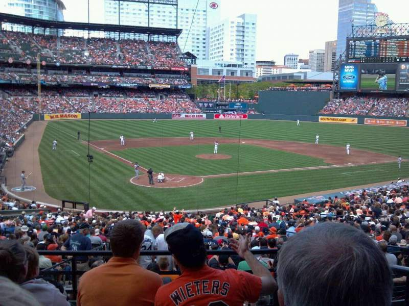 Seating view for Oriole Park at Camden Yards Section 33 Row 5 Seat 3