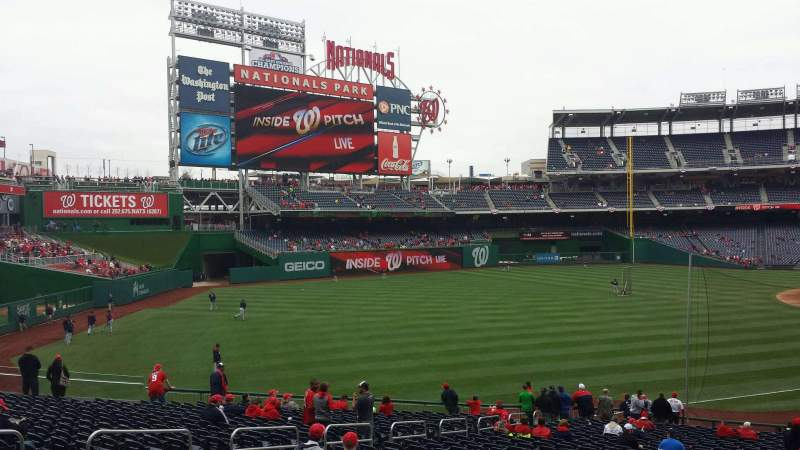 Seating view for Nationals Park Section 109 Row mm Seat 13