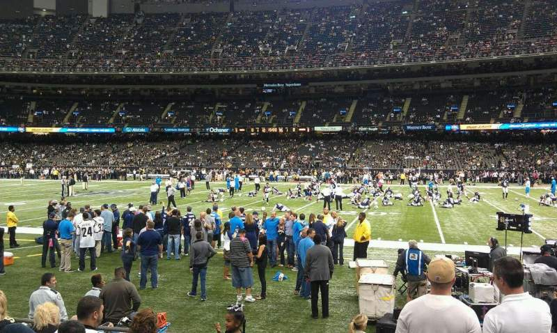 Seating view for Mercedes-Benz Superdome Section 112 Row 7 Seat 2
