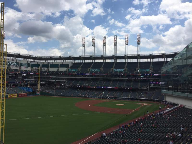 Seating view for Progressive Field Section 338 Row B Seat 4