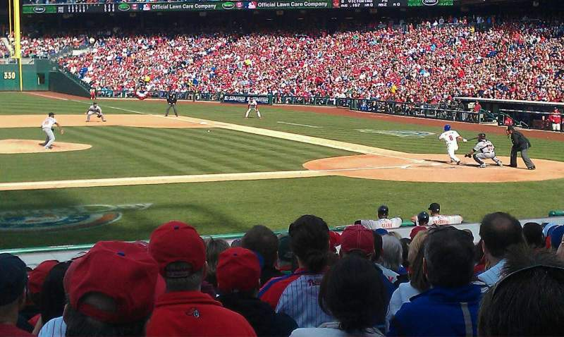 Seating view for Citizens Bank Park Section 131 Row 15 Seat 16