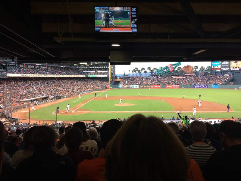 Seating view for AT&T Park Section 109 Row 41 Seat 10