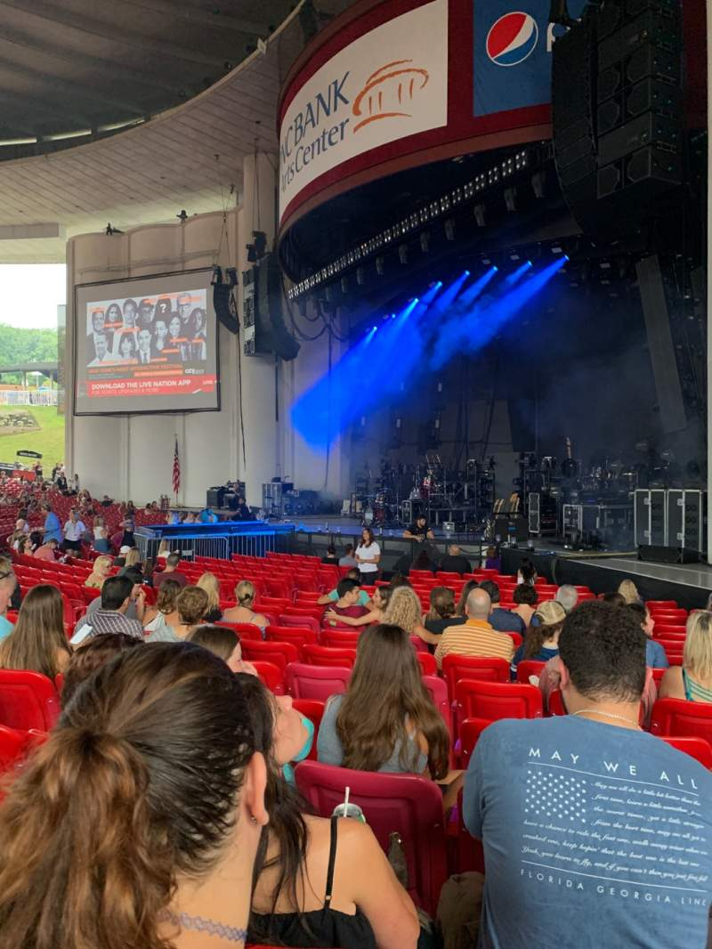 Seating view for PNC Bank Arts Center Section 101 Row S Seat 28