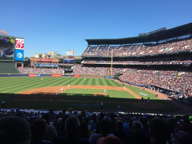 Seating view for Turner Field Section 208L Row 8 Seat 109