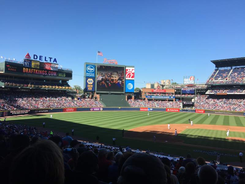 Seating view for Turner Field Section 208L Row 9 Seat 109