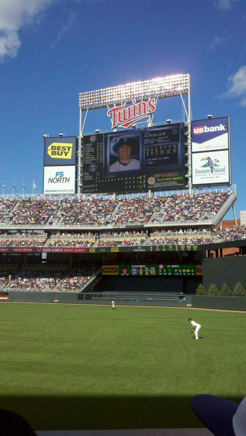Seating view for Target Field Section 103 Row 9 Seat 8