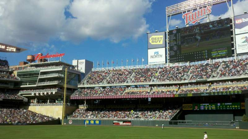 Seating view for Target Field Section 103 Row 9 Seat 10