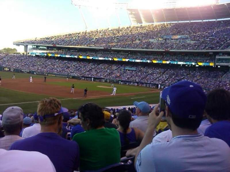 Seating view for Kauffman Stadium Section 114 Row V Seat 7