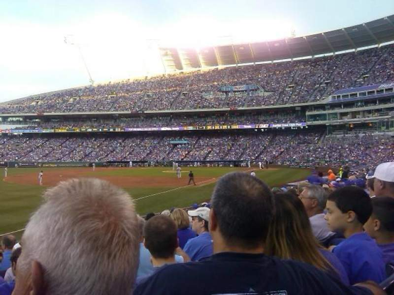 Seating view for Kauffman Stadium Section 112 Row R Seat 5