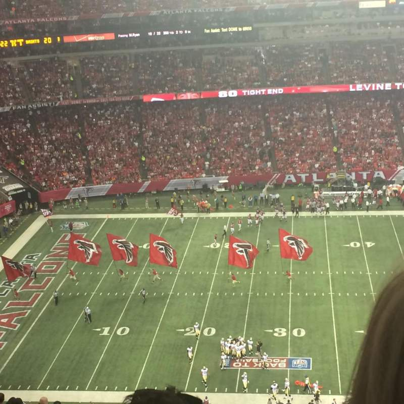 Seating view for Georgia Dome Section 349 Row 21 Seat 19
