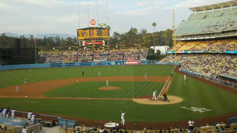 Seating view for Dodger Stadium Section 117LG Row F Seat 1