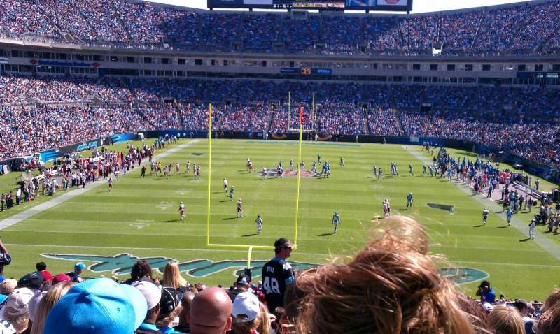 Seating view for Bank of America Stadium Section 202 Row 16 Seat 9