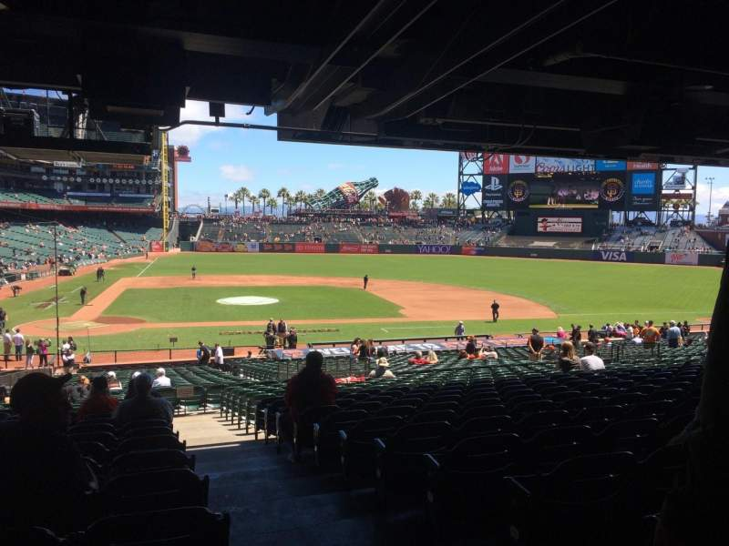 Seating view for AT&T Park Section 110 Row 39 Seat 1