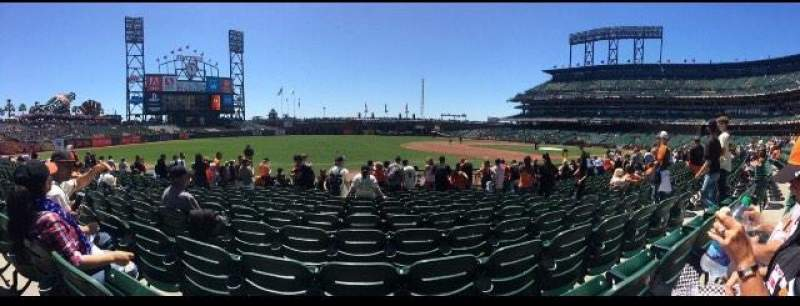 Seating view for AT&T Park Section 127 Row 11 Seat 6