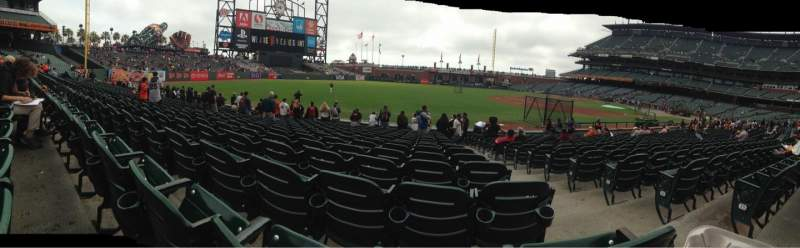 Seating view for AT&T Park Section 128 Row 16 Seat 2