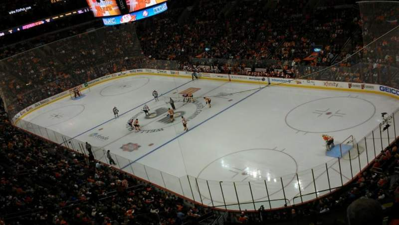 Seating view for Wells Fargo Center Section 217 Row 4 Seat 5