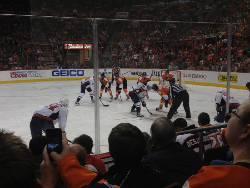 Seating view for Wells Fargo Center Section 114 Row 5 Seat 14