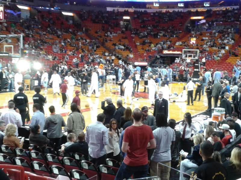 Seating view for American Airlines Arena Section 111 Row 11 Seat 4