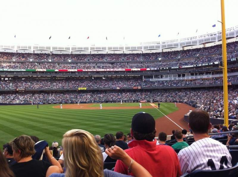 Seating view for Yankee Stadium Section 133 Row 21 Seat 8