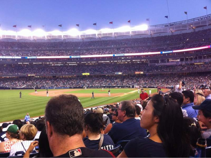 Seating view for Yankee Stadium Section 130 Row 21 Seat 20