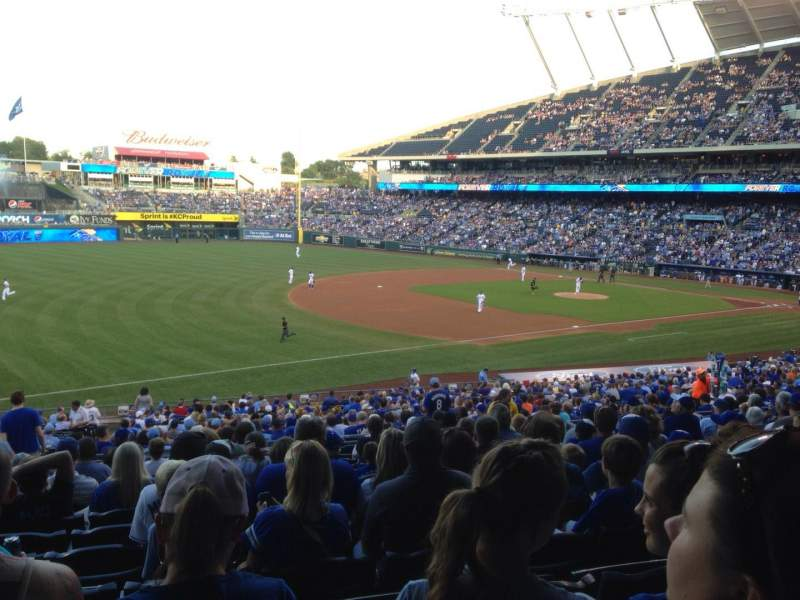 Seating view for Kauffman Stadium Section 214 Row MM Seat 4