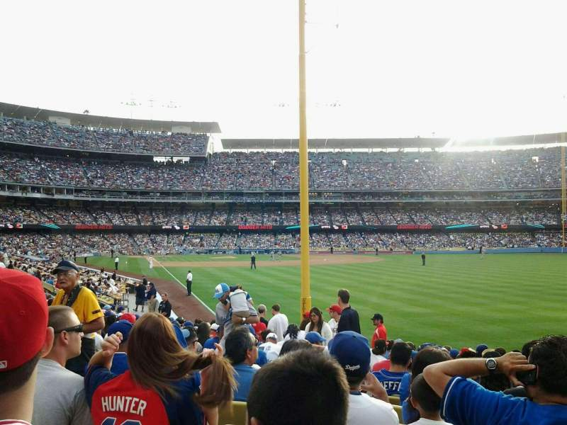 Seating view for Dodger Stadium Section 50FD Row P Seat 7