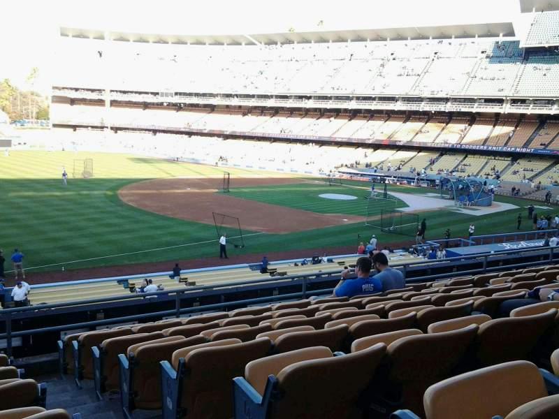 Dodger stadium section 151lg row h seat 1 los angeles dodgers vs new