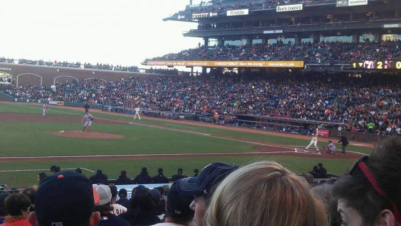 Seating view for AT&T Park Section 124 Row O Seat 6