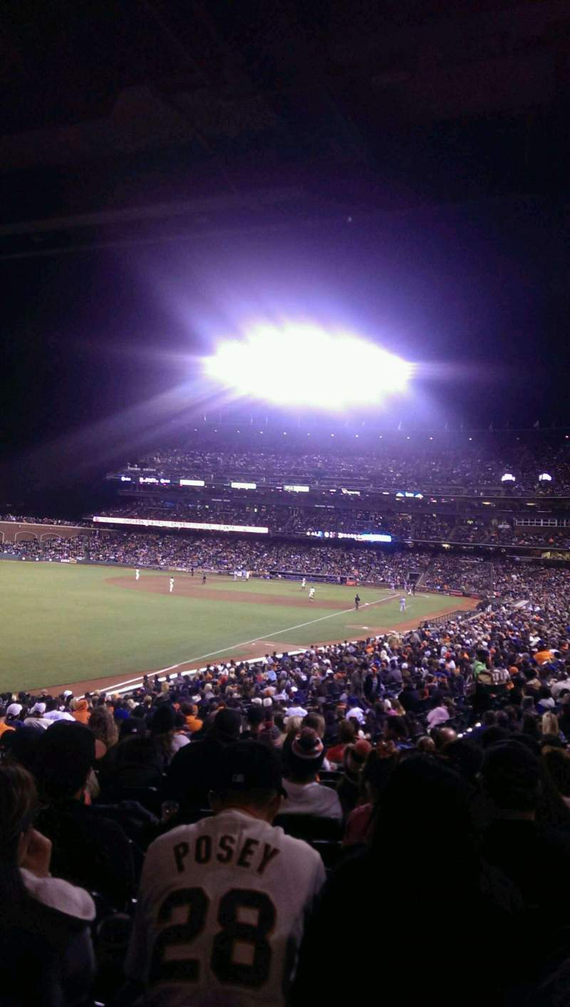 Seating view for AT&T Park Section 134 Row 33 Seat 11