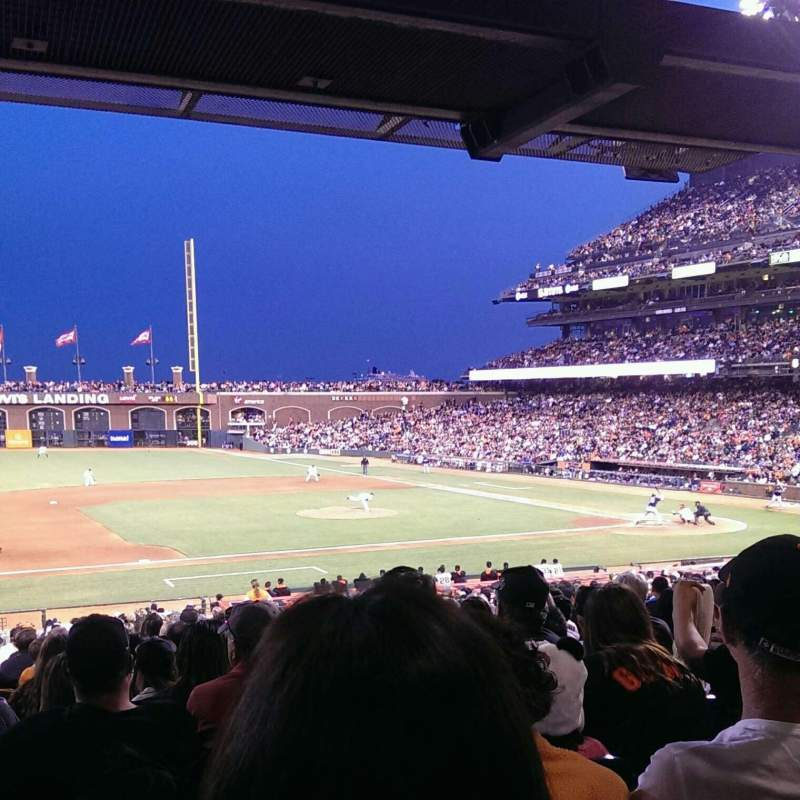 Seating view for AT&T Park Section 124 Row 34 Seat 16
