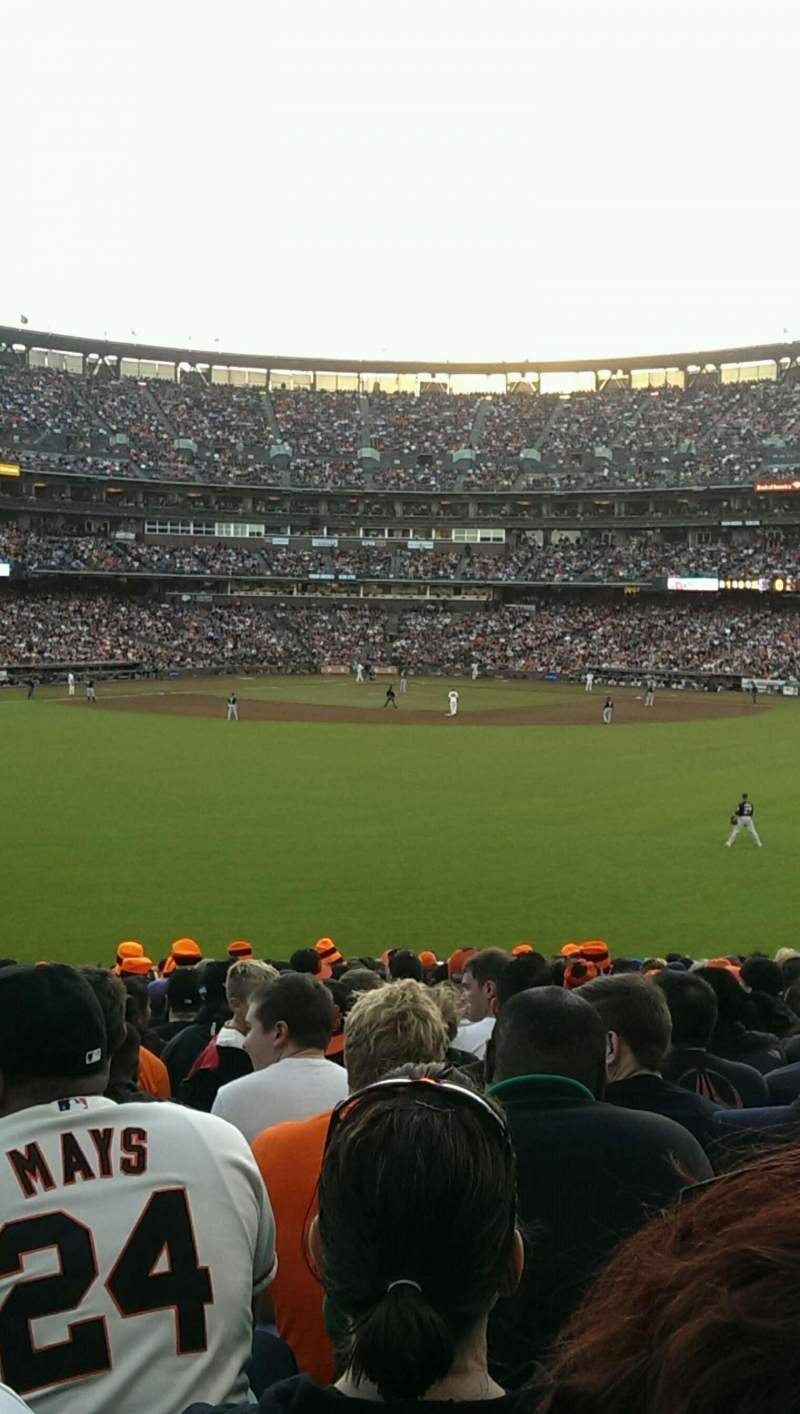Seating view for Oracle Park Section 144 Row 27 Seat 10