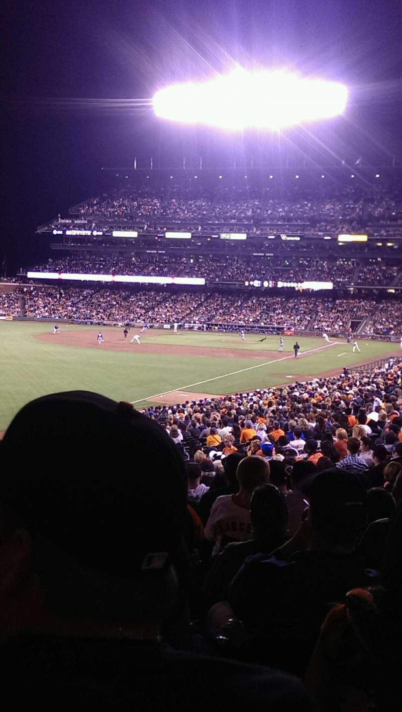 Seating view for AT&T Park Section 134 Row 33 Seat 6