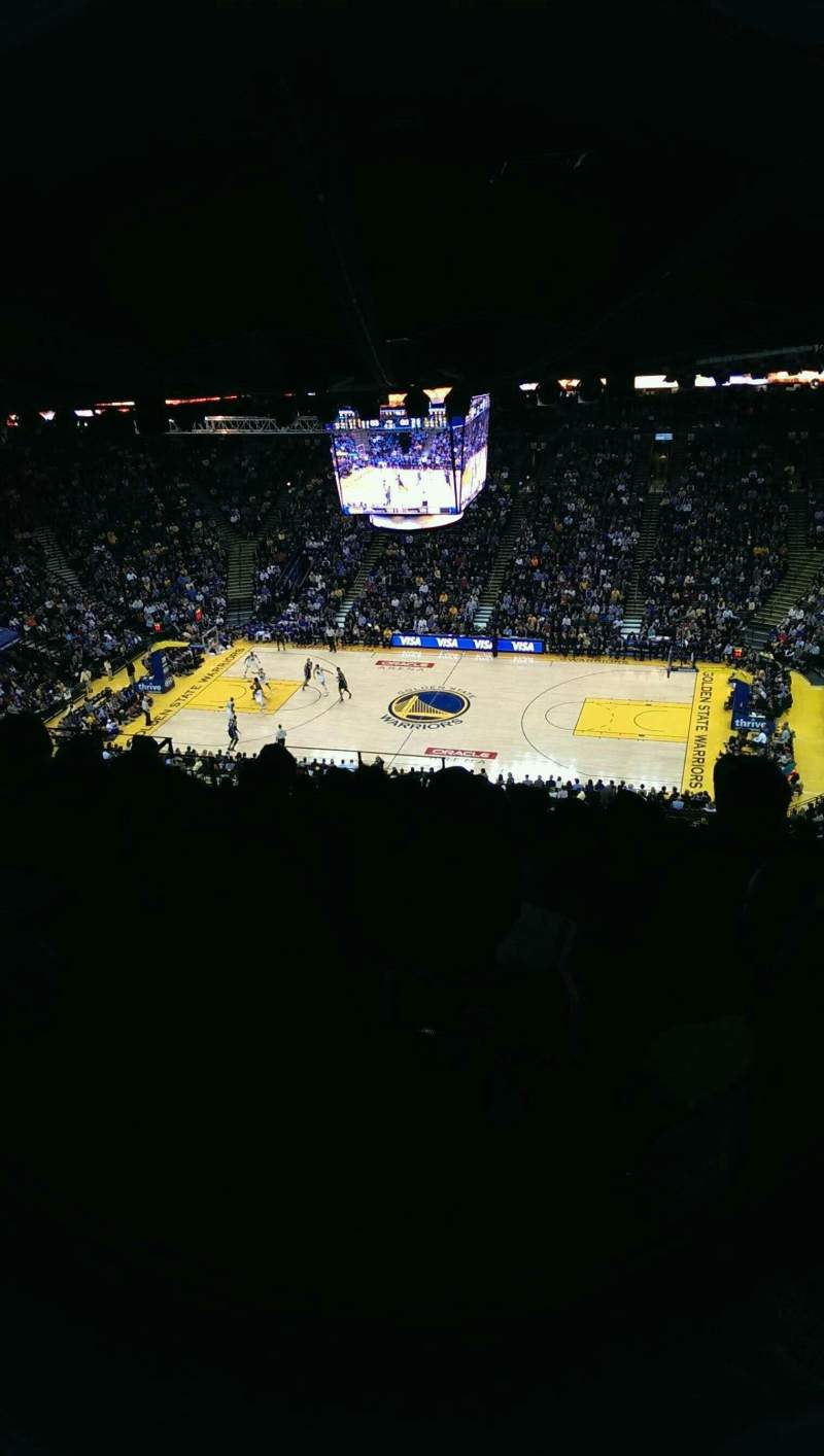 Seating view for Oracle Arena Section 215 Row 17 Seat 9