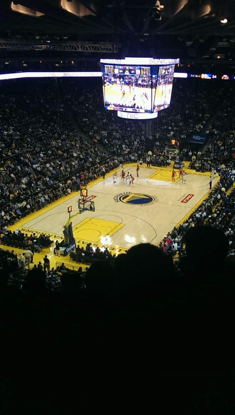 Seating view for Oracle Arena Section 205 Row 8 Seat 13