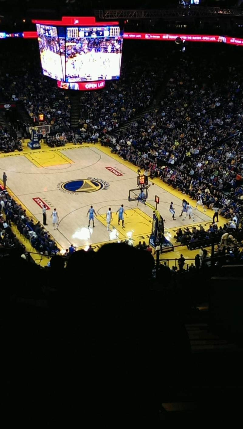 Seating view for Oracle Arena Section 227 Row 10 Seat 1