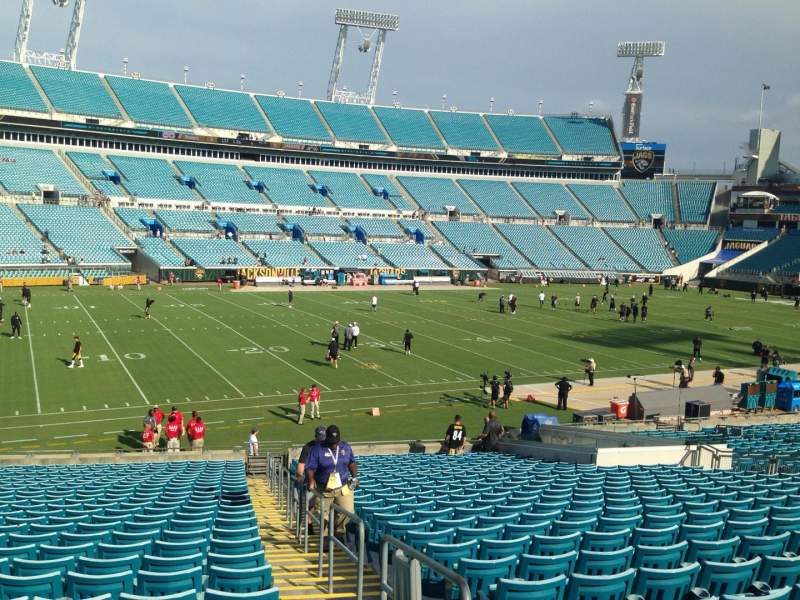 Seating view for EverBank Field Section 114 Row Cc Seat 1