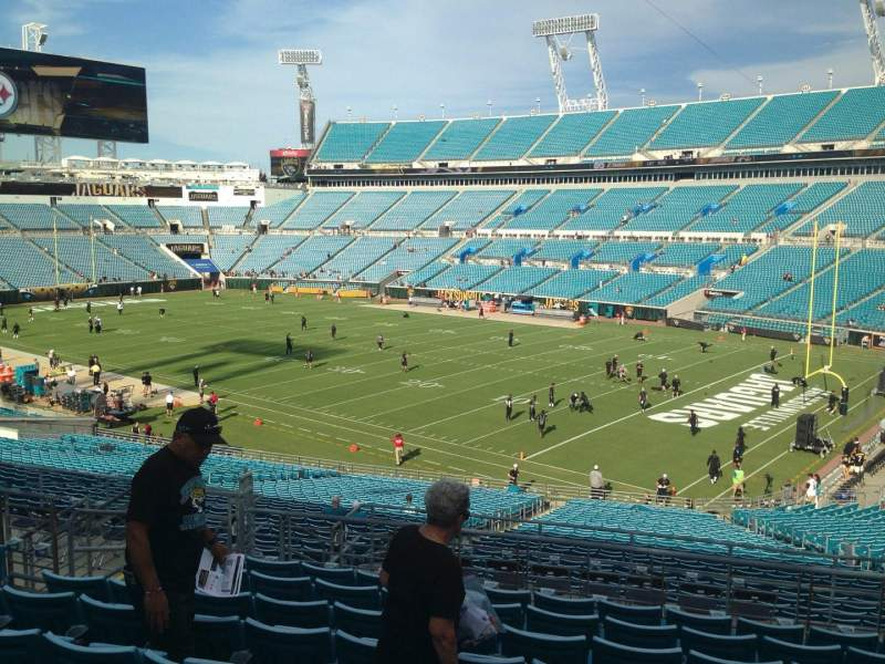 Seating view for EverBank Field Section 203 Row J Seat 10