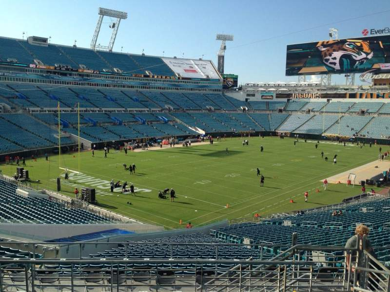 Seating view for EverBank Field Section 245 Row H Seat 5