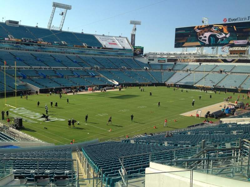 Seating view for EverBank Field Section 244 Row G Seat 9