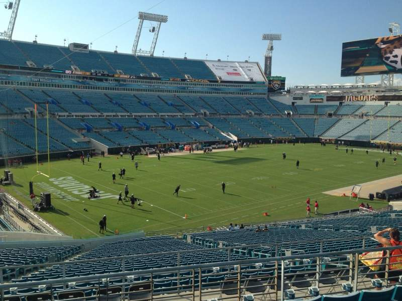 Seating view for EverBank Field Section 243 Row F Seat 12