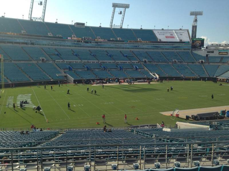 Seating view for EverBank Field Section 241 Row F Seat 14