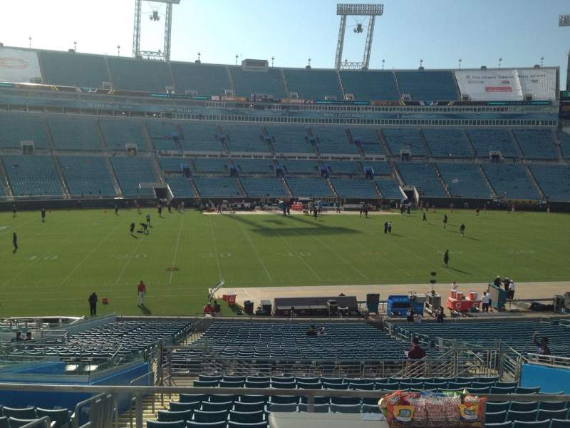 Seating view for EverBank Field Section 238 Row A Seat 15