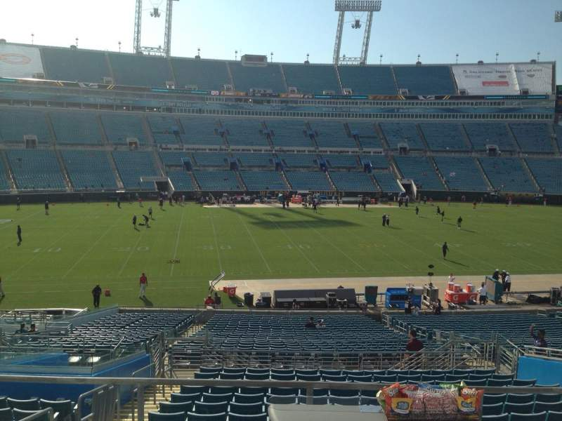 Seating view for EverBank Field Section 237 Row A Seat 16