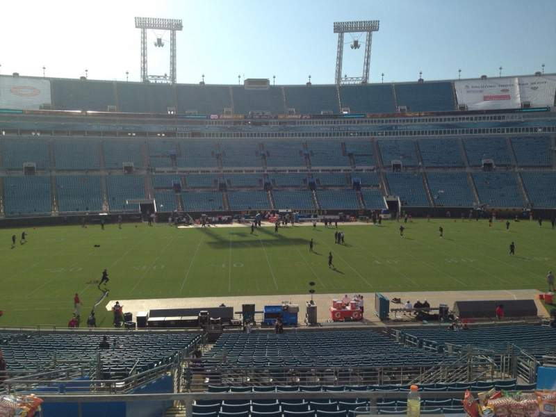Seating view for EverBank Field Section 236 Row A Seat 14
