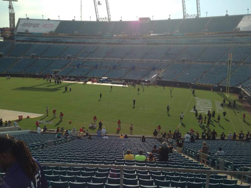 Seating view for EverBank Field Section 230 Row A Seat 13