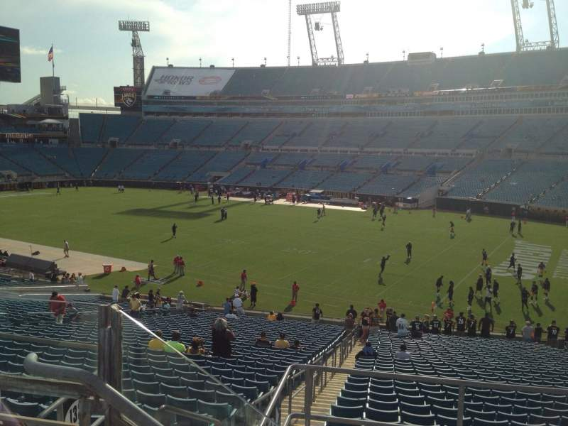 Seating view for EverBank Field Section 229 Row B Seat 14