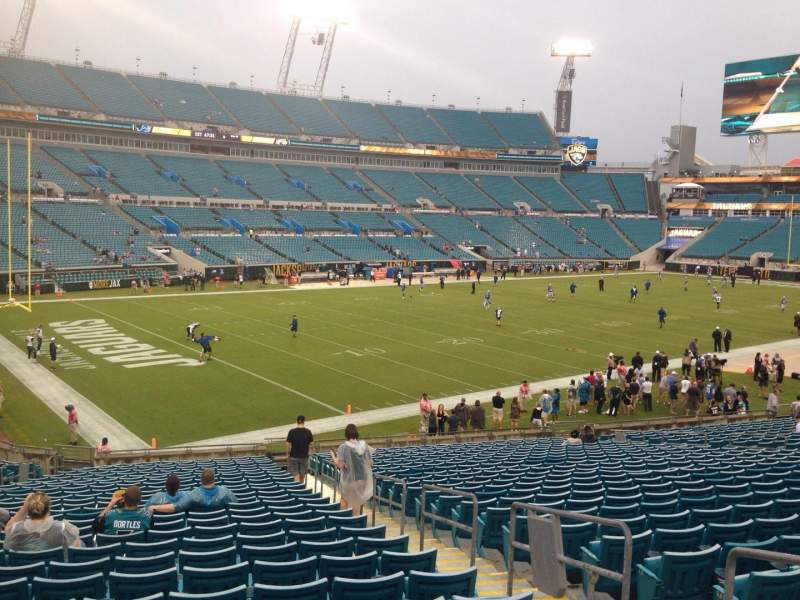 Seating view for EverBank Field Section 116 Row DD Seat 4